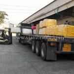 สีตีเส้นถนน สีขาว 500 ถุง สีเหลือง 500 ถุง ส่งออกไปประเทศพม่า လမ်းမျဥ်းဆွဲဆေးရောင် အဖြူရောင် 500 အိတ် အဝါရောင် 500 အိတ် ထိုင်းနိုင်ငံထုတ်ပစ္စည်း