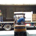 เครื่องตีเส้นถนน และเครื่องพ่นน้ำยาแท๊คโค้ดส่งออกไปประเทศพม่า လမ်းမျဥ်းဆွဲစက် နဲ့ ဆေးရေမှုန့်တဲ့စက် ထိုင်းနိုင်ငံထုတ်ပစ္စည်း