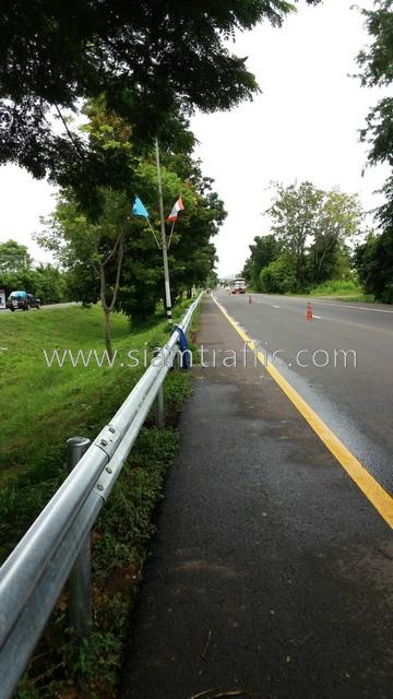guardrail ทางหลวงหมายเลข 24 ตอนควบคุม 0302 ตอน หนองกี่-นางรอง