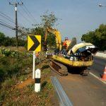 w-beam guard rails แขวงทางหลวงตราด ทางหลวงหมายเลข 3 ตอนควบคุม 0701 ตอน บ้านพลิ้ว – แม่น้ำเวฬุ