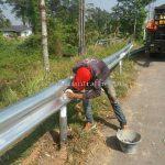 w beam guard rail แขวงทางหลวงตราด W-BEAM GUARDRAIL CLASS I TYPE II ปริมาณงาน 1,100 เมตร