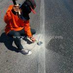 ลูกแก้วติดถนนสะท้อนแสง ทางหลวงหมายเลข 35