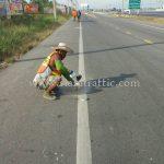 การติดตั้งลูกแก้วติดถนน ทางหลวงหมายเลข 35 ตอน นาโคก - แพรกหนามแดง - วังมะนาว