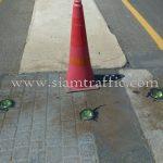 ลูกแก้วติดถนน สีเหลือง SIGLITE ติดตั้งที่ The Palm พัฒนาการ