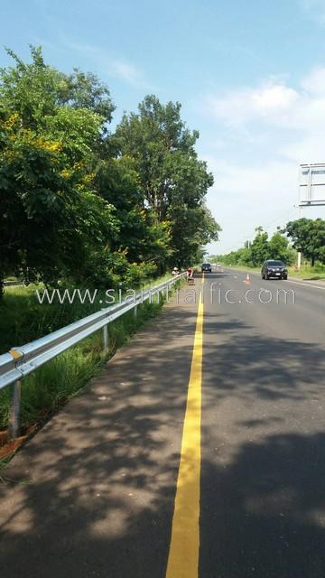 guardrail 3.2 mm. THICKNESS ; CLASS I TYPE II ปริมาณงาน 1,256 เมตร แขวงทางหลวงบุรีรัมย์ ตอน นางรอง - โคกตะแบก