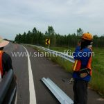 w beam guard rail ทางหลวงหมายเลข 2436