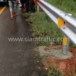 w beam guardrail แขวงทางหลวงชุมพร ปริมาณงาน 1,136 เมตร
