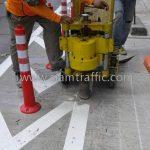การติดตั้งลูกแก้วติดถนน หน่วยงาน ยูเทิร์น เซ็นทรัล อีสต์วิลล์ เรียบทางด่วนรามอินทรา