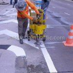 การติดตั้งลูกแก้วติดถนนสะท้อนแสง หน่วยงาน ยูเทิร์น เซ็นทรัล อีสต์วิลล์ เรียบทางด่วนรามอินทรา