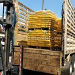 reflective road marking paint 30% สีเหลือง TRI-STAR (มอก.) จำนวน 1,500 ถุง ส่งออกไปประเทศพม่า