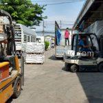 วัสดุเทอร์โมพลาสติก สีขาว 250 ถุง สีเหลือง 250 ถุง ส่งออกไปที่พนมเปญ ประเทศกัมพูชา