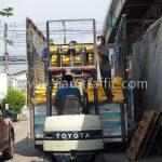 เทอร์โมพลาสติก สีขาว 250 ถุง สีเหลือง 250 ถุง ส่งออกไปที่พนมเปญ ประเทศกัมพูชา
