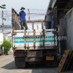 สีจราจรทาถนน สีขาว 250 ถุง สีเหลือง 250 ถุง ส่งออกไปที่พนมเปญ ประเทศกัมพูชา