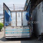สีตีเส้นถนน สีขาว 250 ถุง สีเหลือง 250 ถุง ส่งออกไปที่พนมเปญ ประเทศกัมพูชา