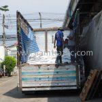 สี thermoplastic สีขาว 250 ถุง สีเหลือง 250 ถุง ส่งออกไปที่พนมเปญ ประเทศกัมพูชา