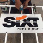 แผงขาว SIXT rent a car