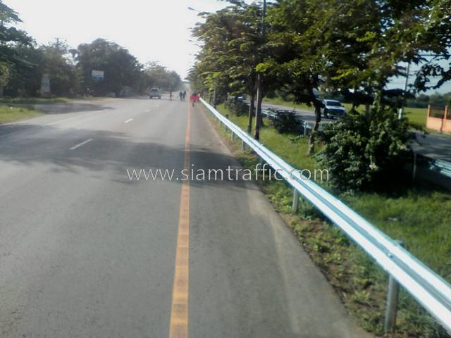 guard rails ทางหลวงหมายเลข 4 ตอน ห้วยชินสีห์-ปากท่อ–สระพัง