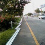guardrail ทางหลวงหมายเลข 4 ตอนควบคุม 0401, 0402 ตอน ห้วยชินสีห์ - ปากท่อ – สระพัง แขวงทางหลวงสมุทรสงคราม