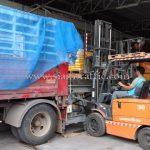 สี thermoplastic สีเหลือง TRI-STAR (มอก.) จำนวน 1,500 ถุง ส่งไปเมียวดี ประเทศพม่า
