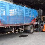 road marking paint สีเหลือง TRI-STAR (มอก.) จำนวน 1,500 ถุง ส่งไปเมียวดี ประเทศพม่า