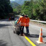 road marking thermoplastic ทางหลวงหมายเลข 1294 ตอน เมืองเก่า - อุทยานแห่งชาติศรีสัชนาลัย