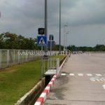 ป้ายสัญลักษณ์ คนข้ามถนนบริษัท โตโยต้า มอเตอร์ ประเทศไทย จํากัด โรงงานบ้านโพธิ์ แผนก VL