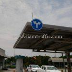"""ป้าย """"เลี้ยวซ้าย-เลี้ยวขวา"""" กลม ขนาด 60 เซนติเมตร บริษัท โตโยต้า มอเตอร์ ประเทศไทย จํากัด โรงงานบ้านโพธิ์ แผนก VL"""