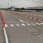 เสาจราจร จำนวน 218 ต้น Toyota Motor Thailand Co., Ltd. โรงงานบ้านโพธิ์ แผนก VL