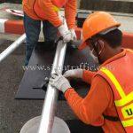 การติดตั้งป้ายไฟกระพริบเชฟร่อน Toyota Motor Thailand Co., Ltd. โรงงานบ้านโพธิ์