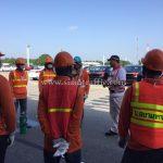 การเตรียมความพร้อมก่อนทำงานติดตั้งอุปกรณ์จราจร บริษัท โตโยต้า มอเตอร์ ประเทศไทย จํากัด โรงงานเกตเวย์ แผนก VL