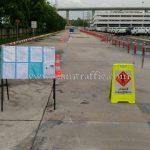 งานติดตั้งอุปกรณ์จราจร บริษัท โตโยต้า มอเตอร์ ประเทศไทย จํากัด โรงงานสำโรง
