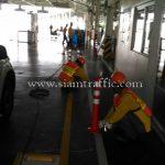 การติดตั้งเสาล้มลุกพลาสติก จำนวน 452 ต้น บริษัท โตโยต้า มอเตอร์ ประเทศไทย จํากัด โรงงานสำโรง
