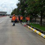 """การติดตั้งป้าย """"จำกัดความเร็ว 30 กม."""" กลม ขนาด 60 เซนติเมตร บริษัท โตโยต้า มอเตอร์ ประเทศไทย จํากัด โรงงานสำโรง แผนก VL"""