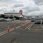 เสาล้มลุก และกระจกโค้งจราจร Toyota Motor Thailand Co., Ltd. สำโรง แผนก VL