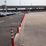 เสาจราจรพลาสติกบริษัท โตโยต้า มอเตอร์ ประเทศไทย จํากัด