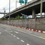 """ป้าย """"บังคับเลี้ยวซ้าย"""" กลม ขนาด 60 เซนติเมตร Toyota Motor Thailand Co., Ltd. Samrong Plant"""