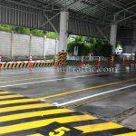 เสาล้มลุกชนิดฐานยางสีดำ สูง 115 เซนติเมตร บริษัท โตโยต้า มอเตอร์ ประเทศไทย จํากัด โรงงานสำโรง แผนก VL
