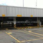 ป้ายทางเข้า ป้ายทางออก และป้าย BUY-OFF SHOP Toyota Motor Thailand Co., Ltd. Samrong Plant