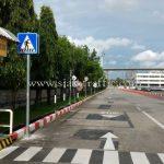 ป้ายสัญลักษณ์ คนข้ามถนน Toyota Motor Thailand Co., Ltd. Samrong Plant