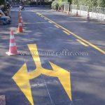 ตีเส้นถนนด้วยสีเทอร์โมพลาสติก เอเชียทีค ถนนเจริญกรุง
