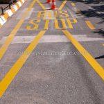 ตีเส้นถนน มหาวิทยาลัยบูรพา