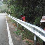 w-beam guard rails บนทางหลวงหมายเลข 4 ตอน หงาว – อ่าวเคย