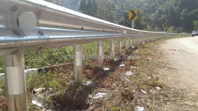 w-beam guard rails แขวงการทางน่านที่ 2 ทางหลวงหมายเลข 1081
