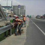 w-beam guardrails ทางหลวงหมายเลข 37 ตอนควบคุม 0200 ตอนวังโบสถ์ - ปราณบุรี