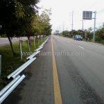 w beam guardrail ทางหลวงหมายเลข 4 ตอนควบคุม 0401 ตอน ห้วยชินสีห์ - ปากท่อ ตอน 5 ระหว่าง กม.118+734 – กม.119+480