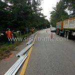 guard rail แขวงทางหลวงฉะเชิงเทรา CLASS I TYPE II ปริมาณงาน 728 เมตร