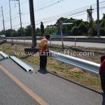w beam guardrail ในทางหลวงหมายเลข 3 ตอน บางปิ้ง - บางตำหรุ ระหว่าง กม.39+000 – กม.39+800