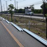 guardrail กรมทางหลวง แขวงทางหลวงสมุทรปราการ ปริมาณงาน 1,200 เมตร