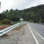การ์ดเรล แขวงทางหลวงระนอง จำนวน 528 เมตร เสาเสริม จำนวน 88 ต้น