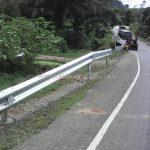 w-beam guardrails แขวงทางหลวงระนอง บนทางหลวงหมายเลข 4006 ตอน ราชกรูด - วังตะกอ ปริมาณงาน 528 เมตร